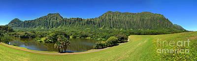 Ho'omaluhia Botanical Garden Under A Crystal Clear Sky Poster by Aloha Art