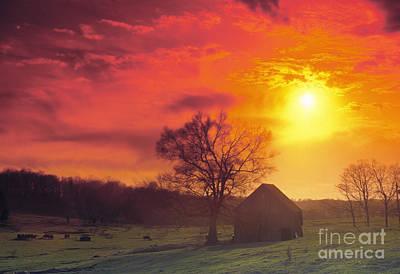 Hoosier Farm Sunset - Fs000851 Poster by Daniel Dempster