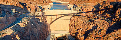 Hoover Dam From Bridge, Lake Mead Poster by Panoramic Images