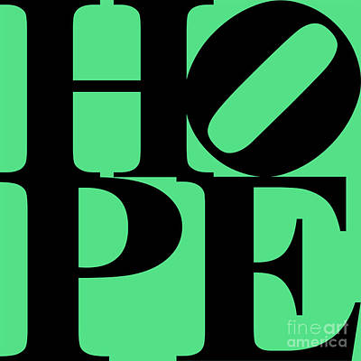 Hope 20130710 Black Green Poster by Wingsdomain Art and Photography