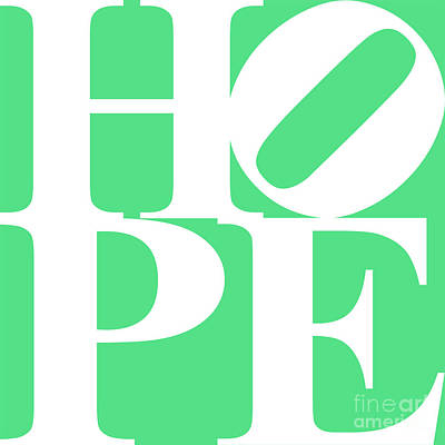 Hope 20130710 White Green Poster by Wingsdomain Art and Photography
