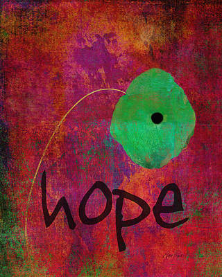 Hope - Abstract Flower Art  Poster