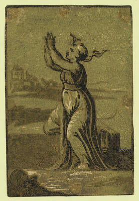 Hope, Date Created Between 1540 And 1560, Chiaroscuro Poster by Vicentino, Giuseppe Niccol?, Called Rospigliosi (born C. 1510), Italian