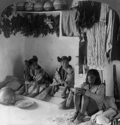 Hopi Grinding Corn, C1903 Poster