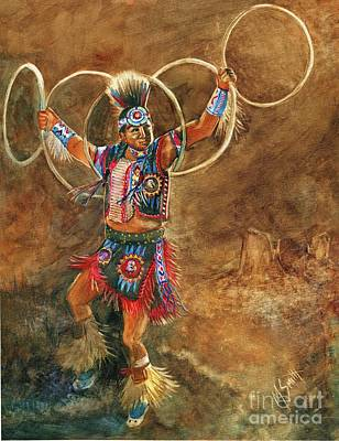 Hopi Hoop Dancer Poster by Marilyn Smith