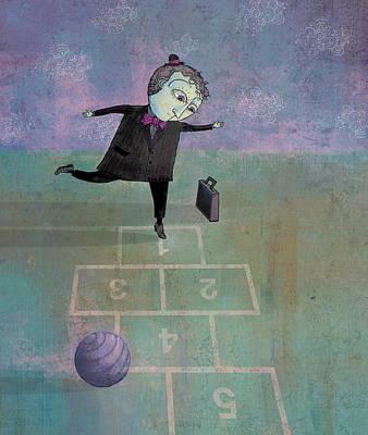Hopscotch Poster by Dennis Wunsch