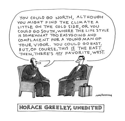 Horace Greeley Poster by Mick Steven