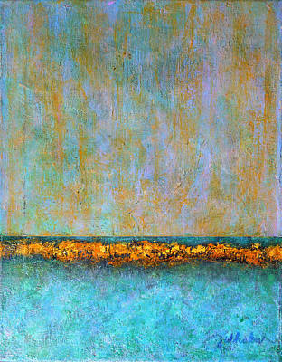 Poster featuring the painting Horizontal Reef by Jim Whalen