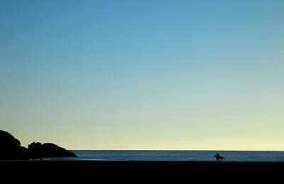 Horse And Rider On Stradbally Beach Poster
