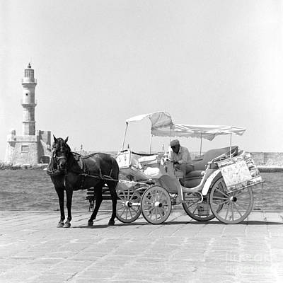 Horse Buggy And Lighthouse Poster by Paul Cowan