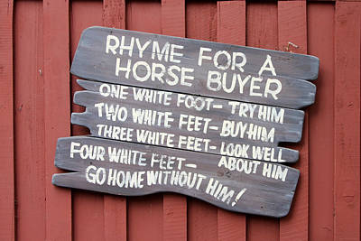 Horse Buyer's Rhyme Poster