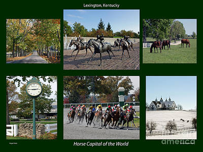 Horse Capital Of The World Poster by Roger Potts