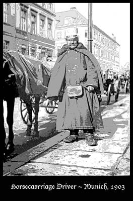 Horse Carriage Driver Munich Germany 1903 Poster by A Gurmankin