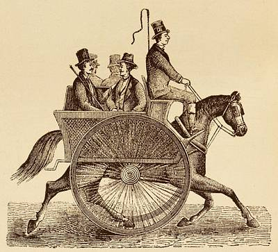 Horse Carriage Illustration Poster by David Parker