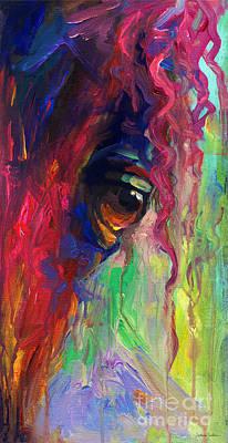 Horse Eye Portrait  Poster by Svetlana Novikova