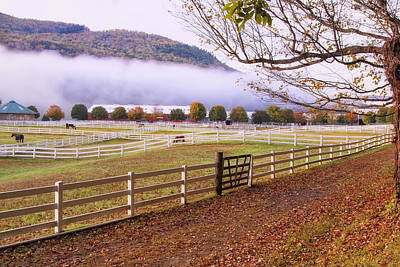 Horse Farm Autumn Poster