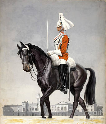 Horse Guards Parade 1939-1946 Vintage Poster Poster by R Muirhead Art