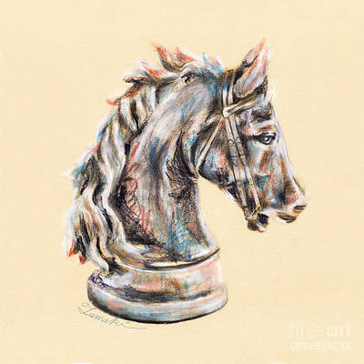 Horse Head Drawing  Poster by Tamaki Hamano