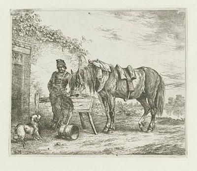 Horse In A Crib, Christiaan Wilhelmus Moorrees Poster