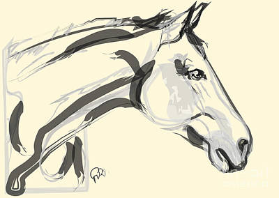 Horse - Lovely Poster by Go Van Kampen
