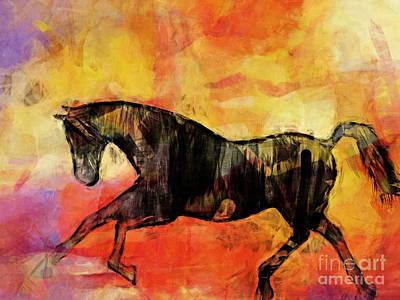 Horse Poster by Lutz Baar