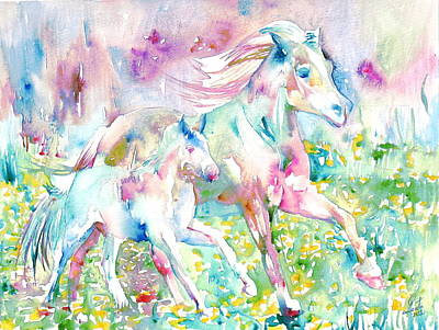 Horse Painting.17 Poster by Fabrizio Cassetta