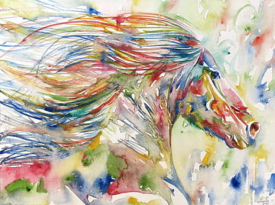 Horse Painting.24 Poster by Fabrizio Cassetta