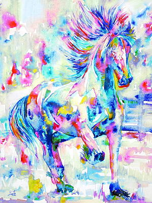 Horse Painting.3 Poster by Fabrizio Cassetta
