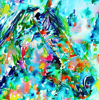 Horse Painting.30 Poster by Fabrizio Cassetta