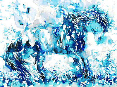 Horse Painting.35 Poster by Fabrizio Cassetta