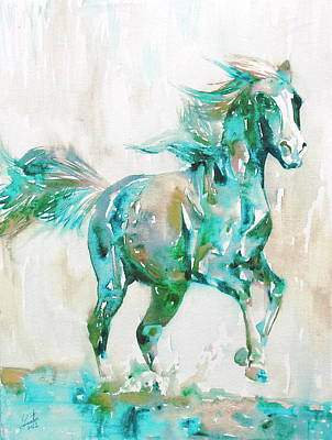 Horse Painting.8 Poster by Fabrizio Cassetta