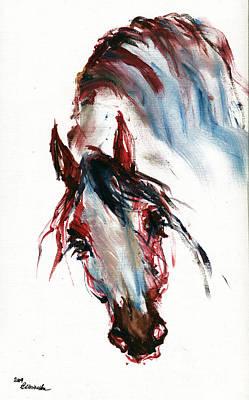Horse Portrait Poster by Angel  Tarantella