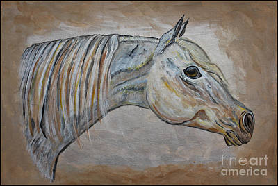 Horse Portrait - Gentle Spirit Poster by Ella Kaye Dickey