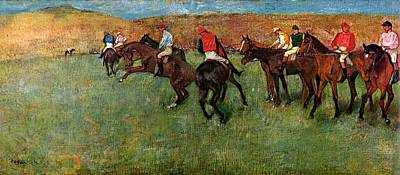 Horse Race Before The Start Poster
