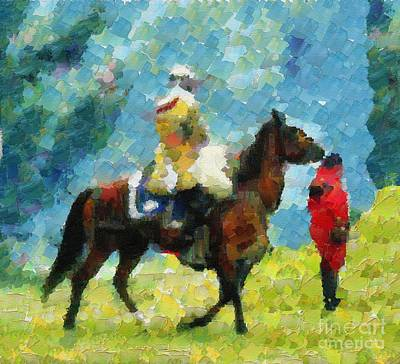 Horse Racer Knight Poster