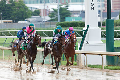 Horse Races At Churchill Downs Poster