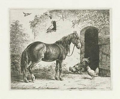 Horse With Halter, Christiaan Wilhelmus Moorrees Poster by Christiaan Wilhelmus Moorrees