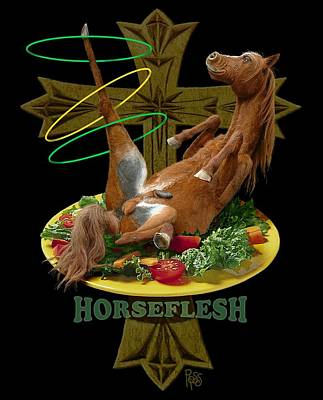 Horseflesh Poster by Scott Ross