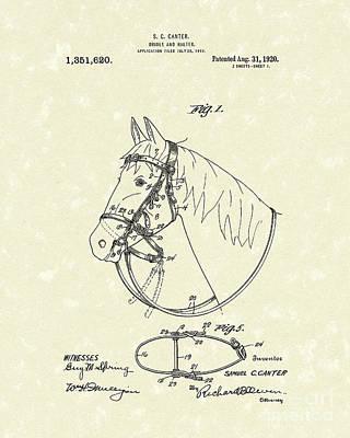 Horse's Bridle 1920 Patent Art Poster