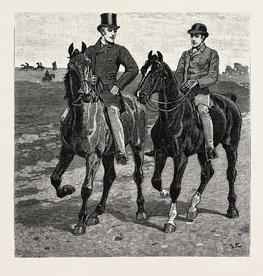 Horses, Engraving 1884, Life In Britain, Uk, Britain Poster by Charlton, John (1849-1917), English School