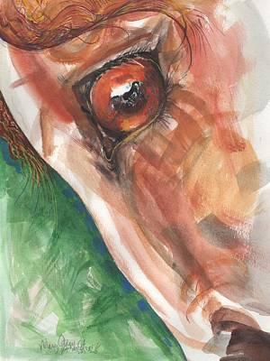 Horses Eye Poster