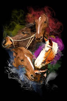Horses Gone Wild Poster by Davina Washington