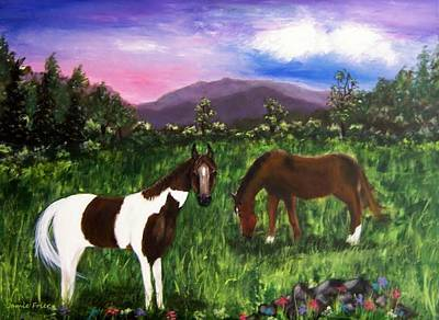 Poster featuring the painting Horses by Jamie Frier