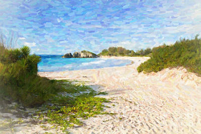 Poster featuring the photograph Horseshoe Bay In Bermuda by Verena Matthew
