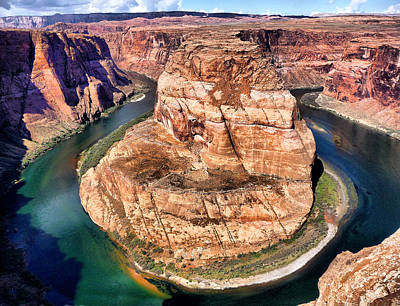 Poster featuring the photograph Horseshoe Bend In Arizona by Mitchell R Grosky