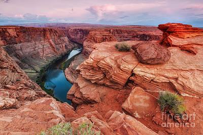 Horseshoe Bend Navajo Nation Page Arizona Colorado River Peek-a-bo Poster by Silvio Ligutti