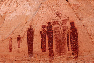 Horseshoe Canyon Pictographs Poster by Alan Vance Ley