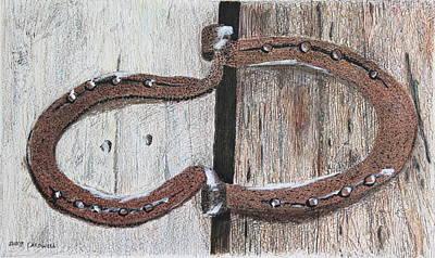 Horseshoe Door Hinge Poster