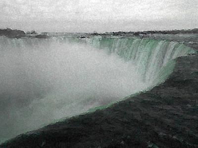 Horseshoe Falls In Winter Poster