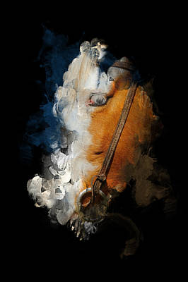 Poster featuring the digital art Horsing Around by Davina Washington
